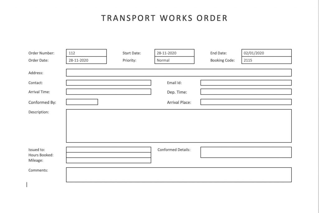 27+ Work Order Templates Download - PDF, Excel, DOC Formats!