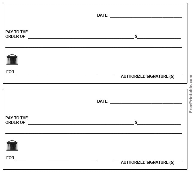 photograph regarding Printable Checks for Kids referred to as 43+ Untrue Blank Check out Templates Fillable Document, PSD, PDF!!