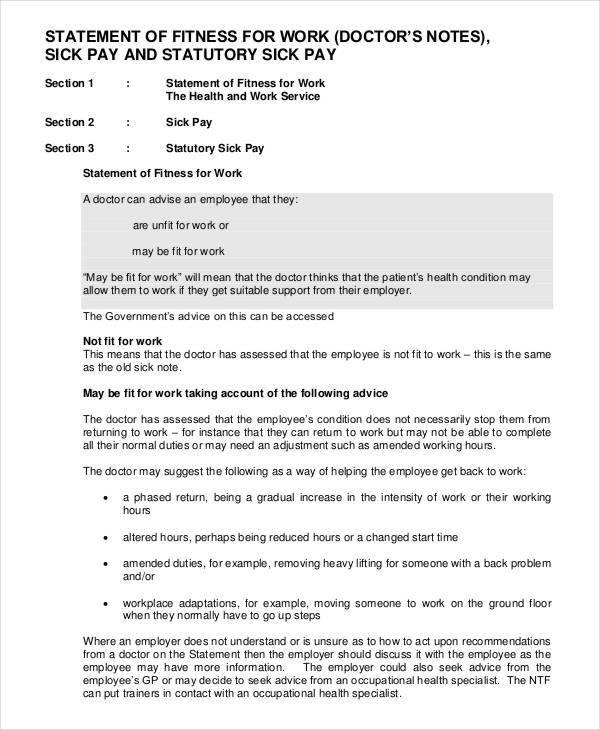 Doctors Note Template letter