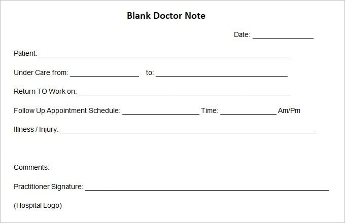 33 Fake Doctors Note Template Download For Work School More