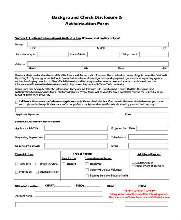 employment applicant state rights for fcra compliance