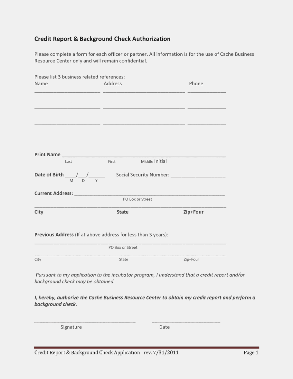 fair credit reporting act check consent form