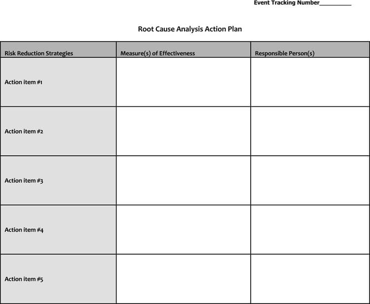Root Cause Analysis Template excel and word for whys