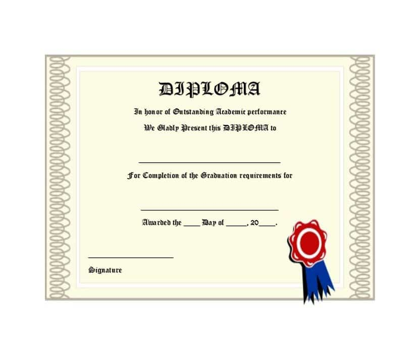 homeschool high school diploma template customize