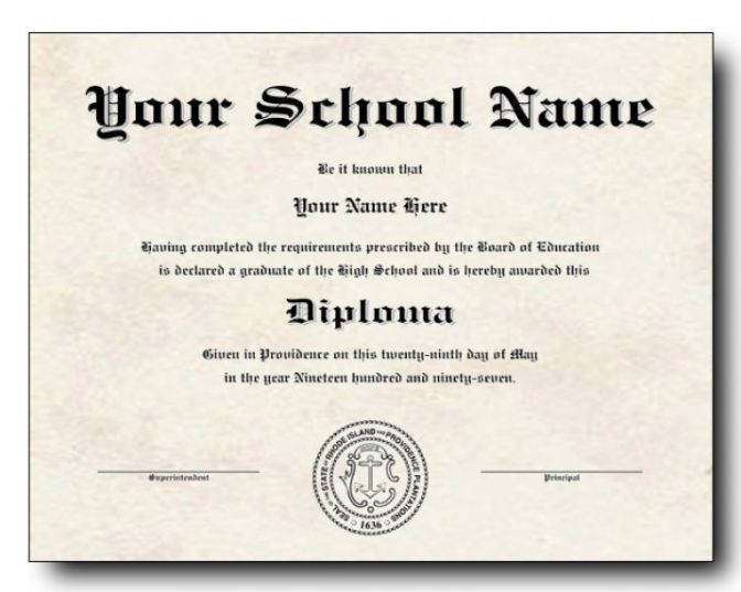 photo regarding Printable High School Diploma named 15 Substantial College or university Degree Template Editable Down load [2019]