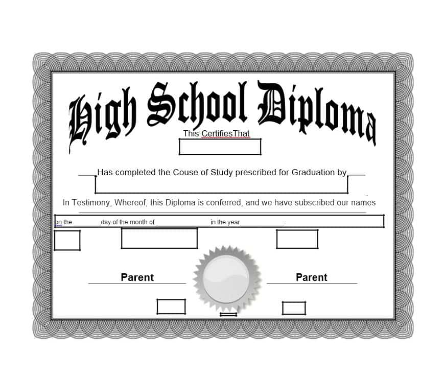 photograph relating to Printable High School Diploma called 15 Superior College Degree Template Editable Obtain [2019]