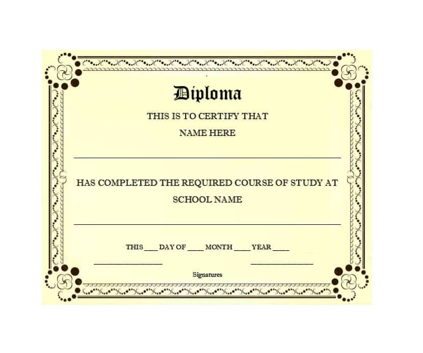 print homeschool college diploma template