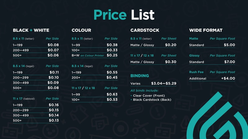 Free Price List Template with lists