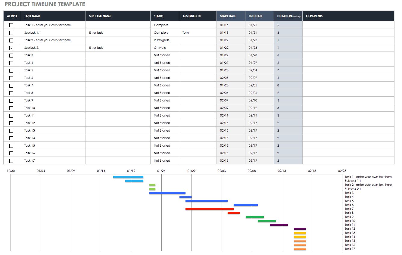 company plan template with support