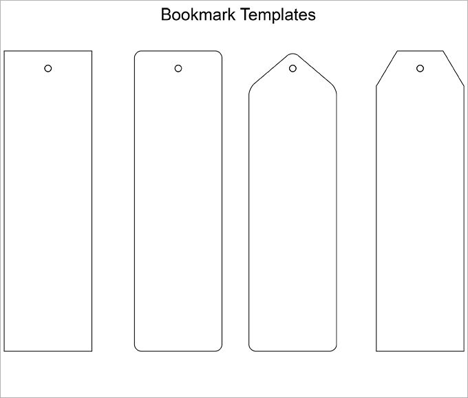 free Bookmark Template easy