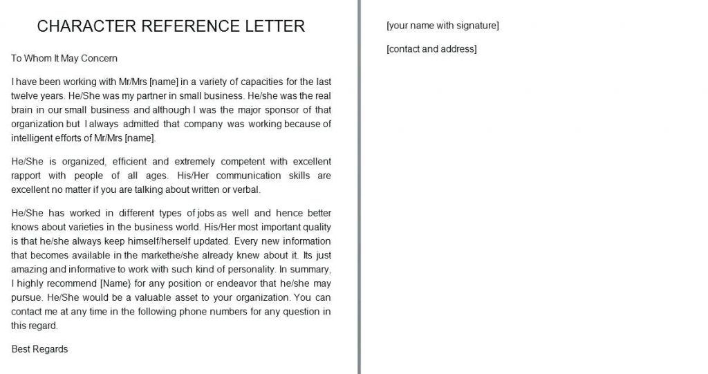Personal Reference Letter For A Friend from www.realiaproject.org