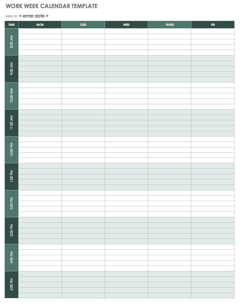 free weekly templates excel format with day page download