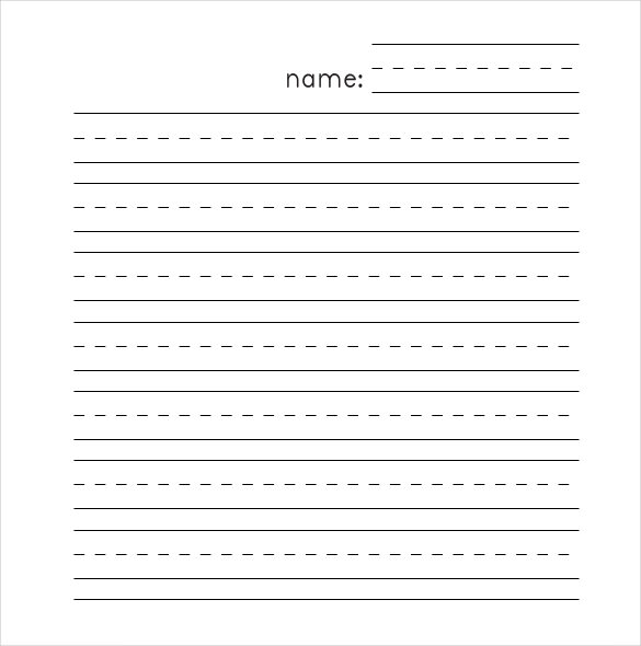 free Printable Lined Paper for kids