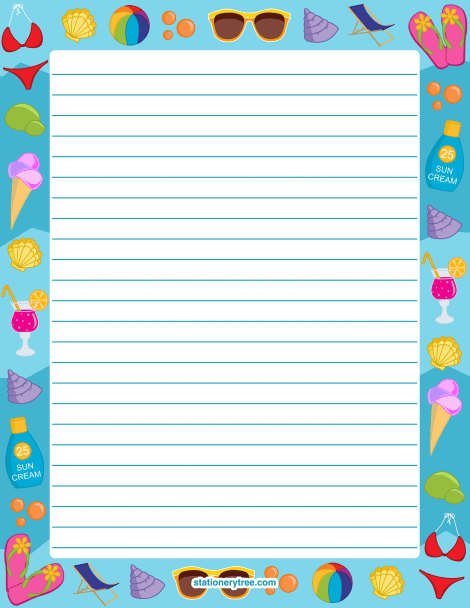 print lined writing paper lines