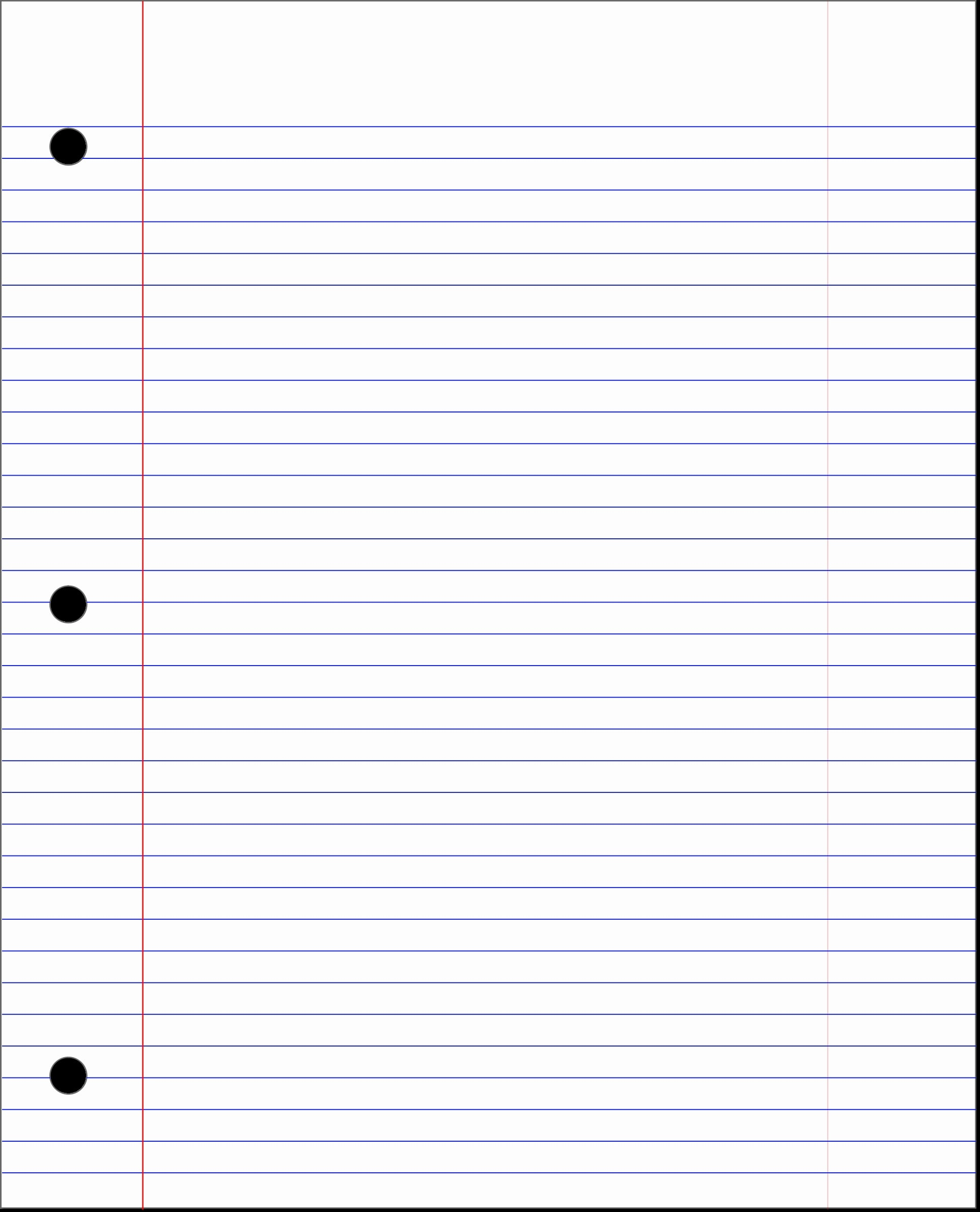 This is a graphic of Notebook Paper Printable inside word