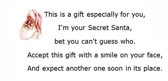secret santa notes