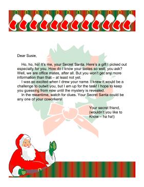 37 Secret Santa Notes Good Sayings Poems More