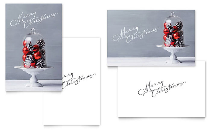 design merry Christmas Card free photo gift terms