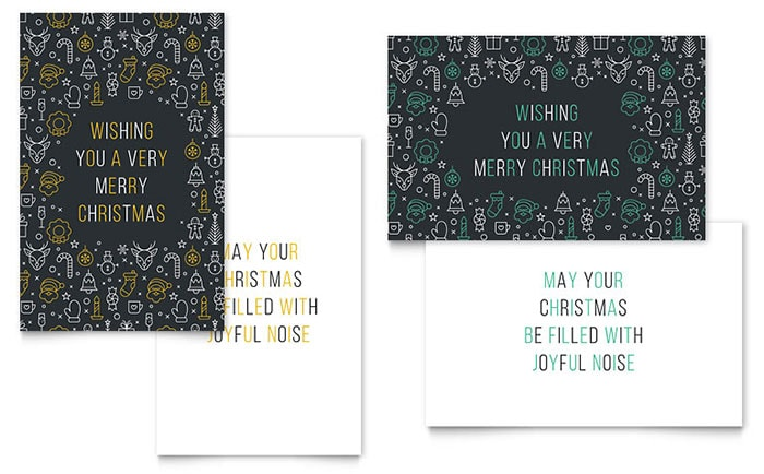 free new merry Christmas Card design