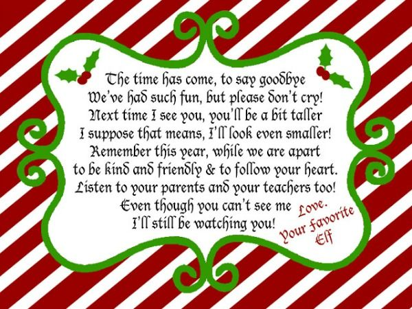 Elf on the shelf welcome arrival letter