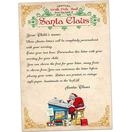 Filled Santa letters template