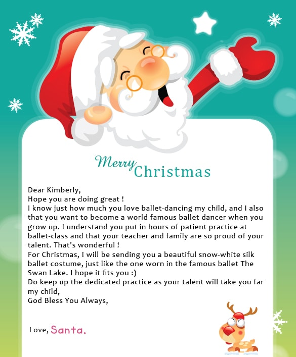 Personalized Santa Note