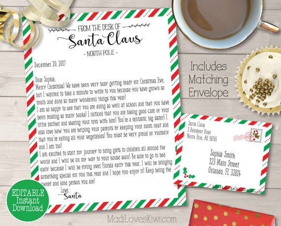 Santa Message with envelope
