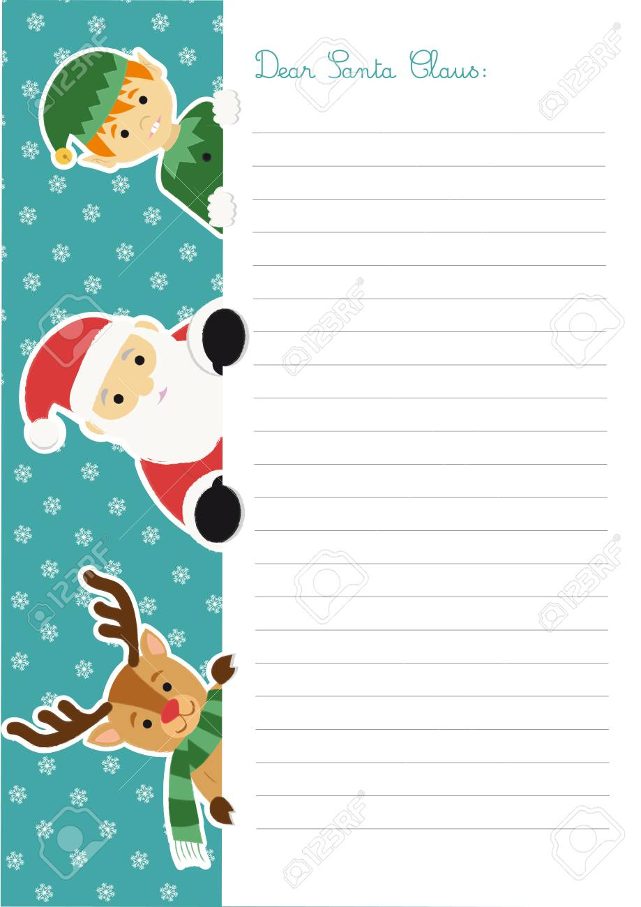 Write a letter to Santa Claus Letter Template