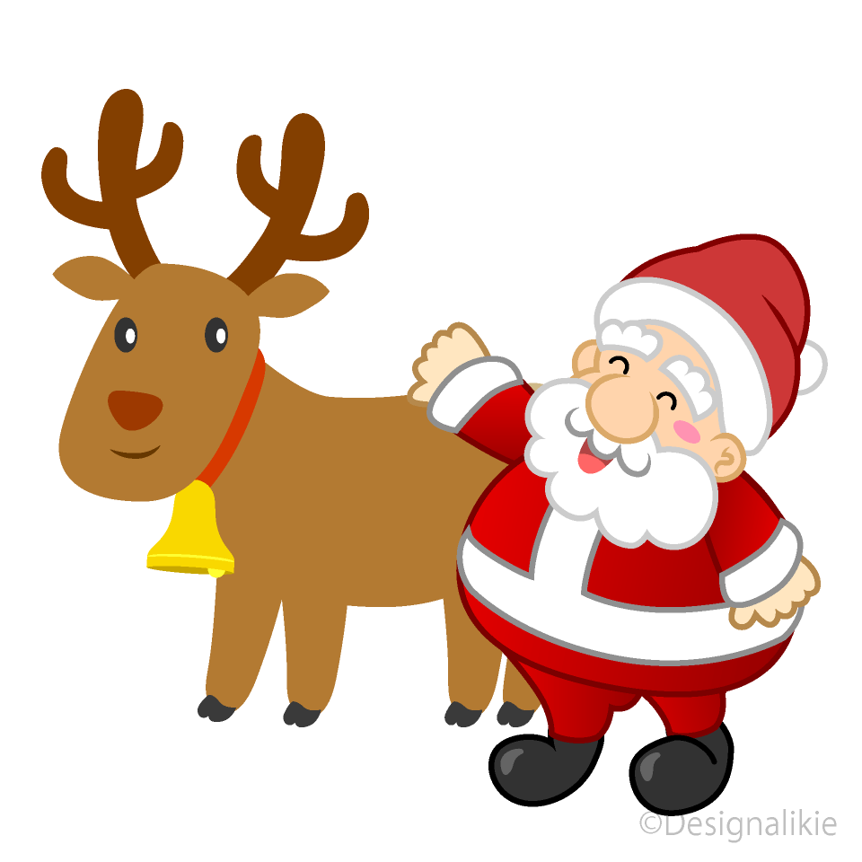 santa claus clip art with reindeer