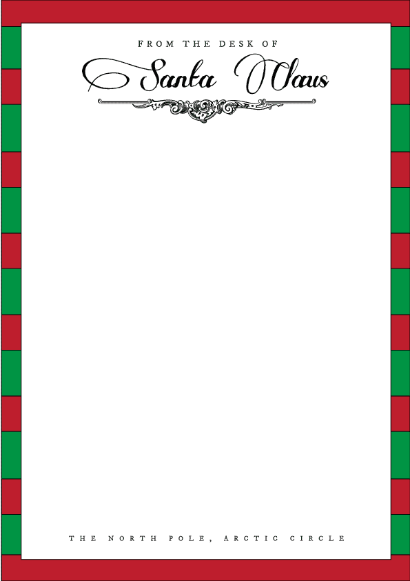 27 Santa Letterhead Templates Free Download Realia Project