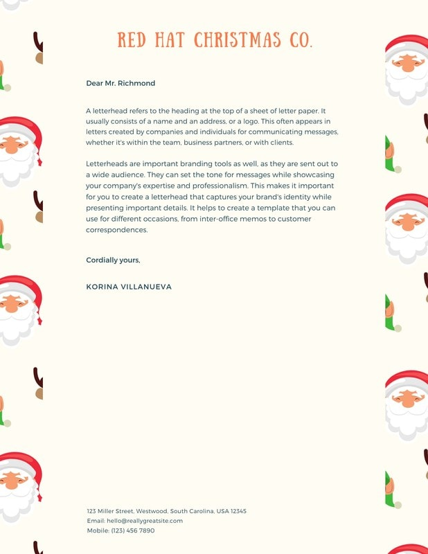 Merry Christmas Note from Santa Claus