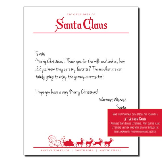 27 Free Printable Letterhead From Santa Claus Updated For 2021