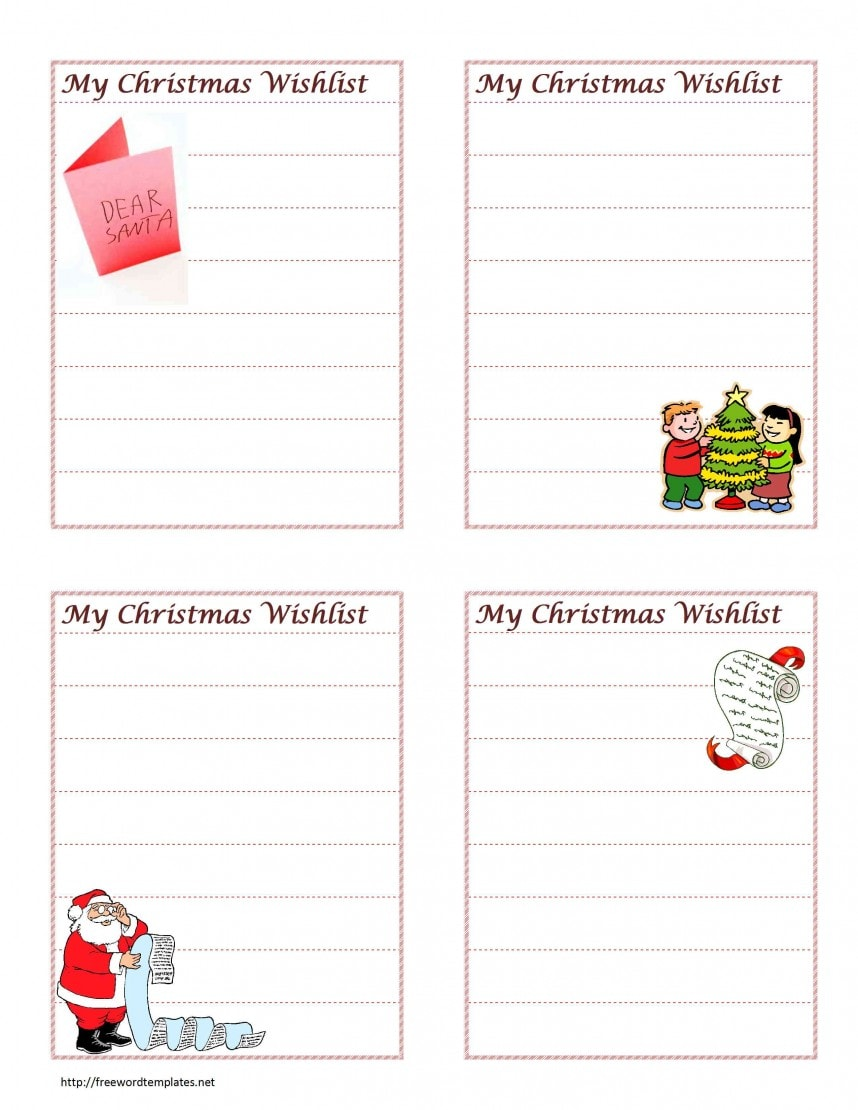 Printable Christmas gift exchange