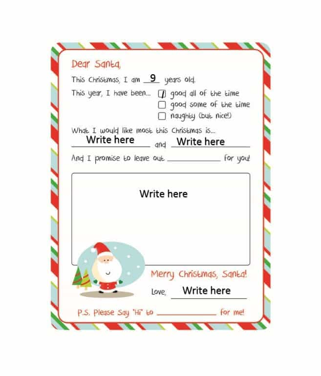 Secret Santa Wish List template