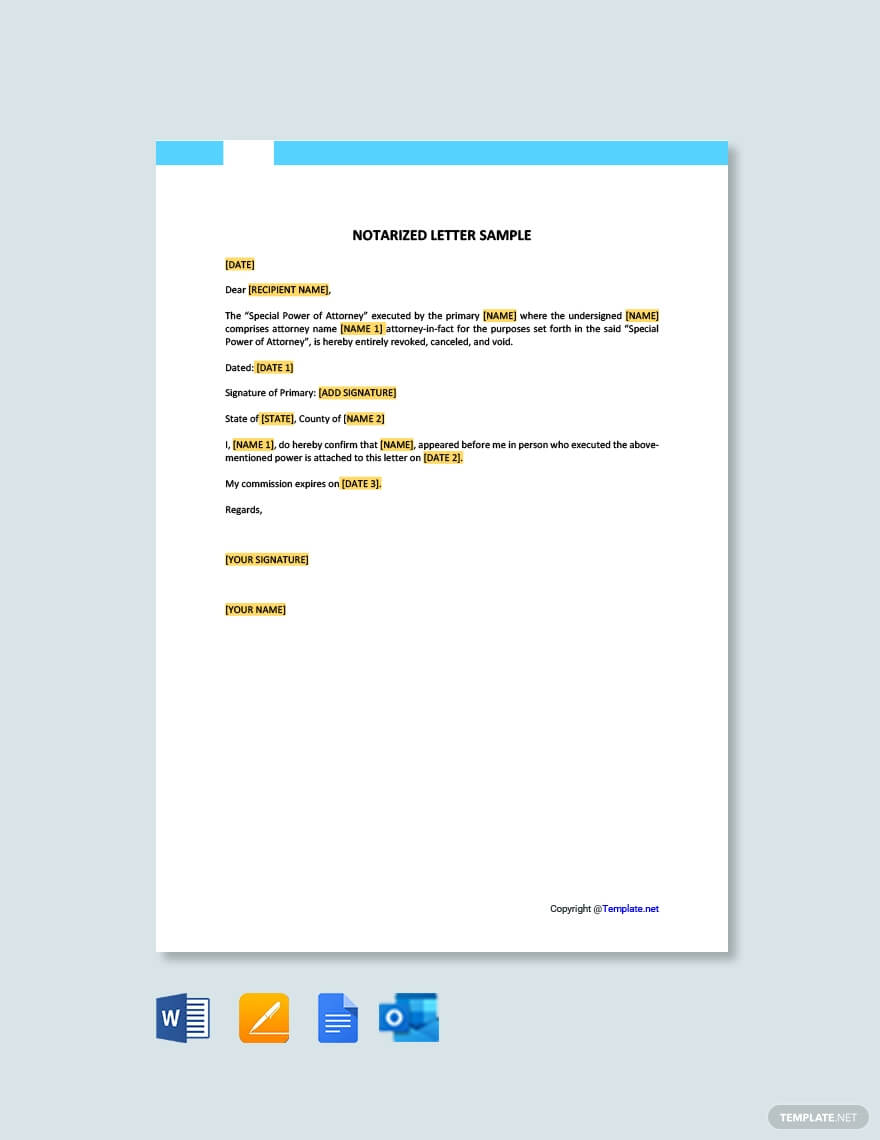 Free Notarized Letter Sample