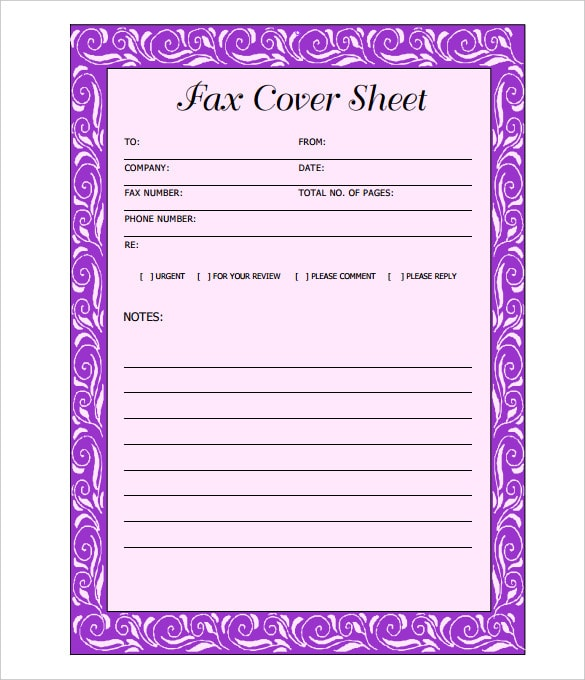 form to send faxes