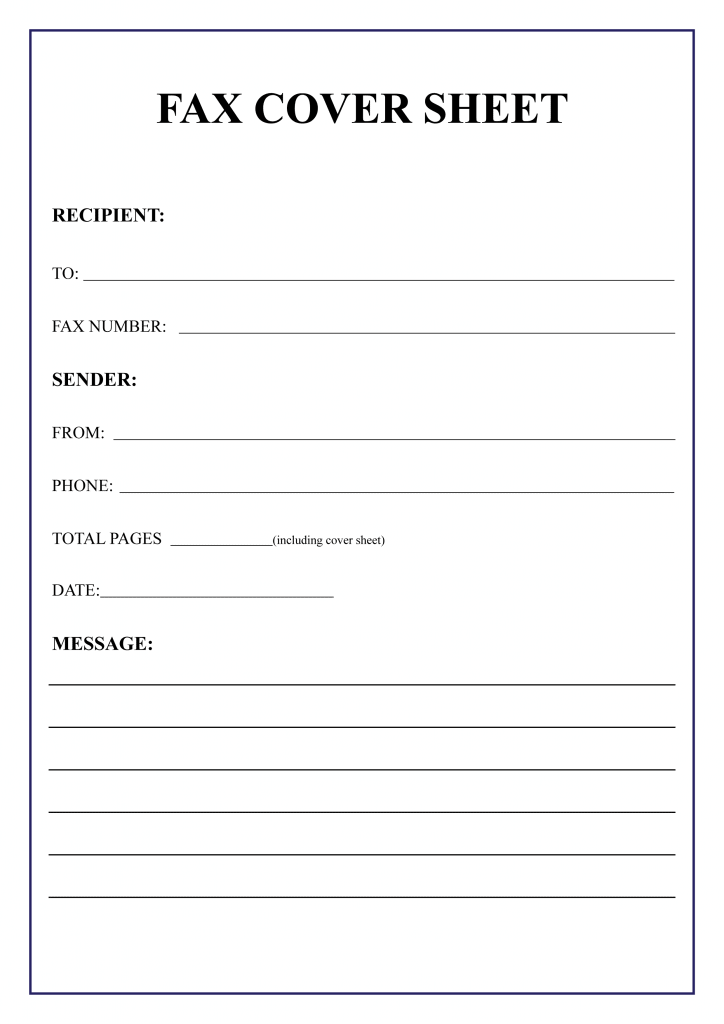 Fax Cover Sheet Template for legal services