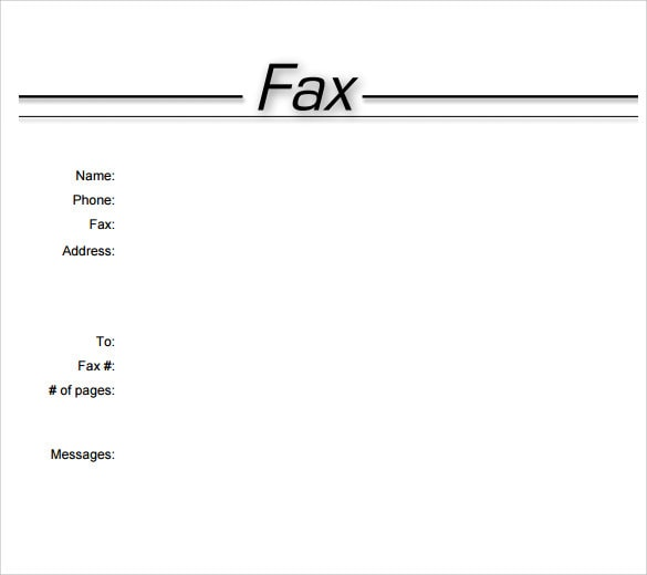 33+ Free Fax Cover Sheet Template PDF Download [2020]