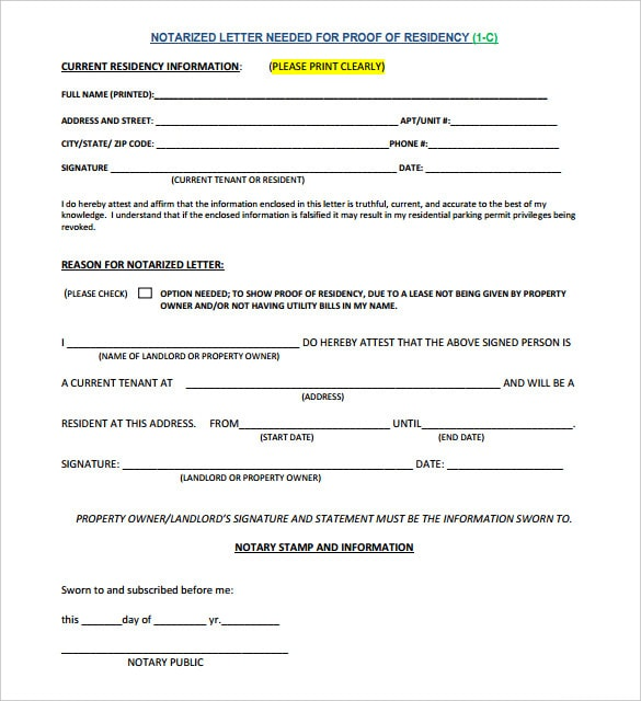 Notarized document
