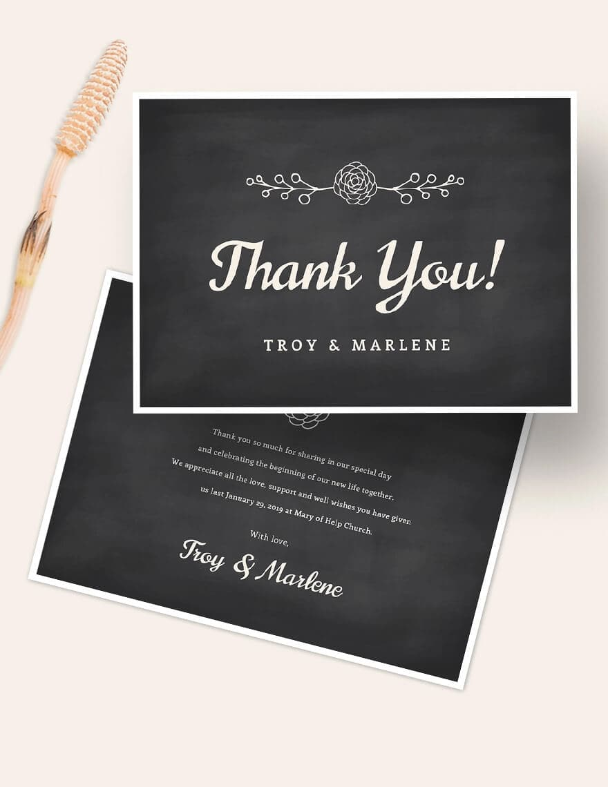 Chalkboard Thank You Card Template (1)