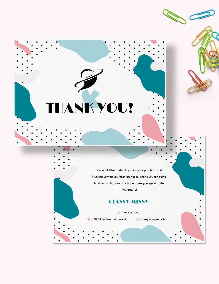 Fashion Business Thank You Card Template (1)