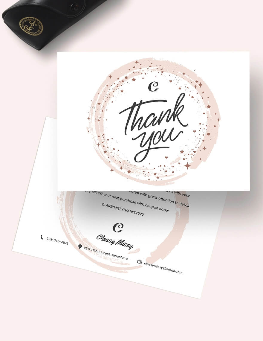 Fashion Thank You Card Template (1)