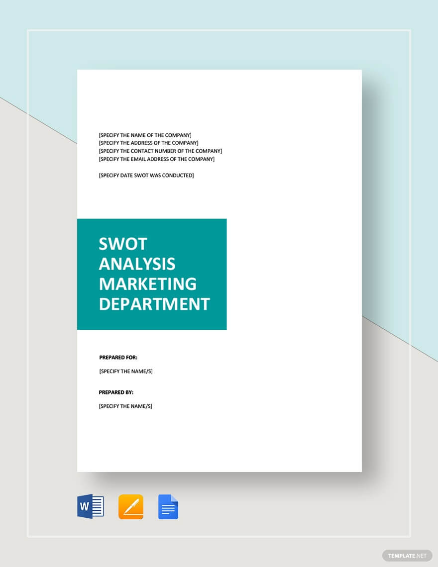 SWOT Analysis for Marketing Template