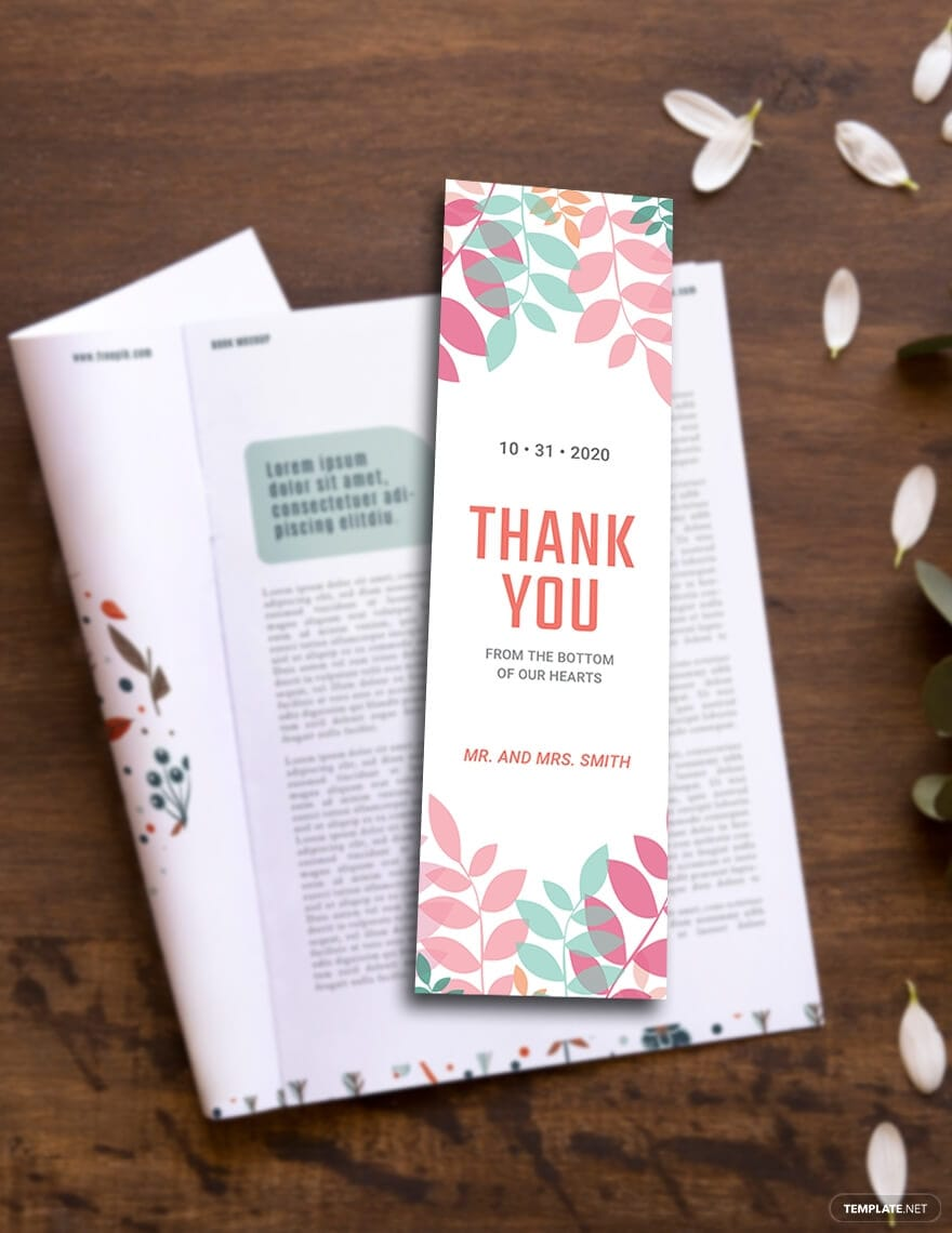 Free Thank You Bookmark Template like