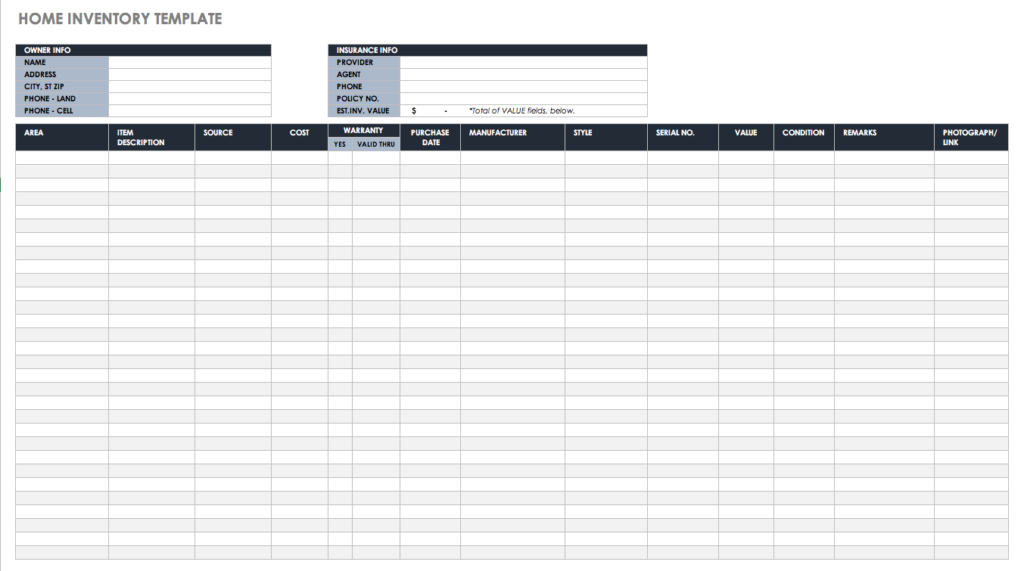 free inventory template excel spreadsheet stock management and track