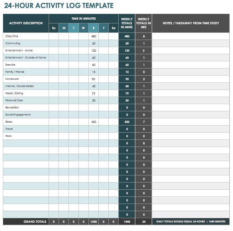 Time log template like company sheet Microsoft excel