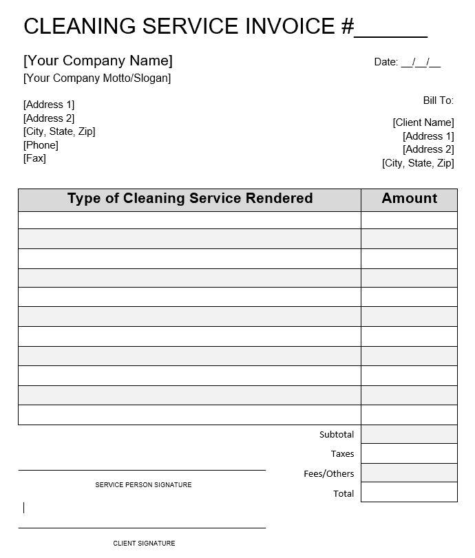 carpet cleaning invoice 4