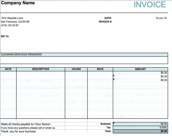 carpet cleaning invoice 5
