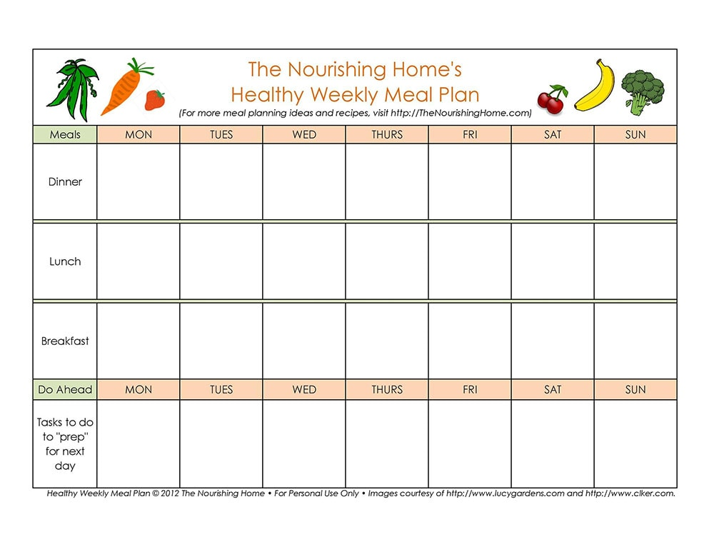 Meal planner for babies