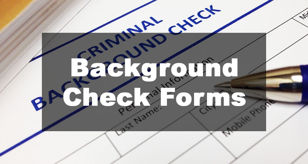 Featured Image: Background Check Form Examples